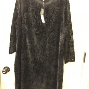 Women's XL Preston &York velvet lace overlay dress